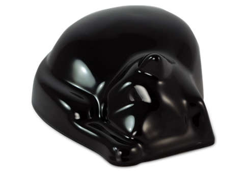 Sleeping Cat Urn - Black Image