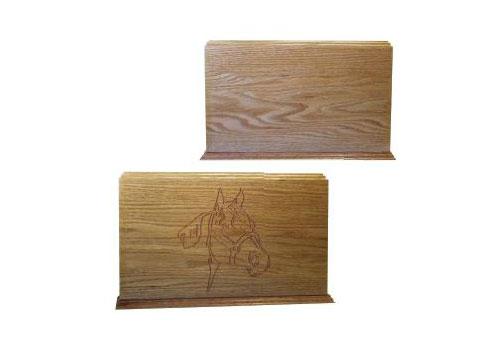 Equine - Solid Wood Urn - Oak Image