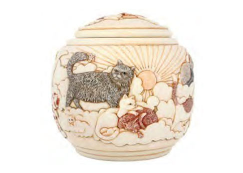 Cachepot Urn- Forever and Ever Cat Image