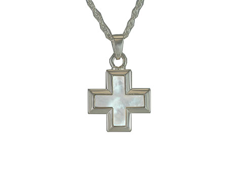 Mother of Pearl Cross Pendant Image