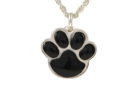 Silver and Onyx Paw Keepsake Image