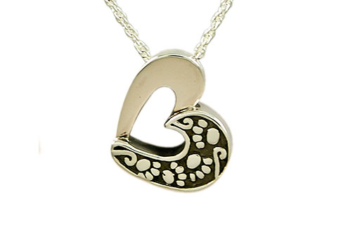 Heart with Paw Pendant Image